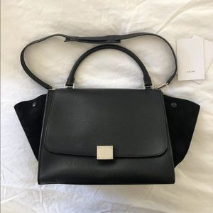 Celine Trapeze Bag Black with tags